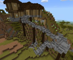 """""""Cliff"""" House Minecraft Map & Project"""