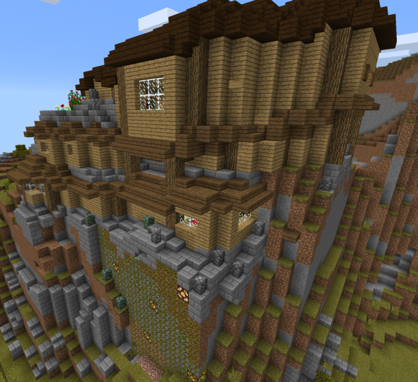 Cliff house minecraft project for Huzz house