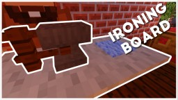 Minecraft - How To Make A Ironing Board w/ Iron! Minecraft Map & Project