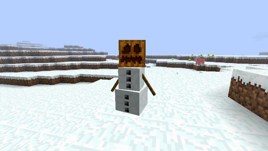 как сделать снеговика в майнкрафте #3