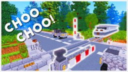 Minecraft - How To Make A Train Crossing Barrier Minecraft Map & Project