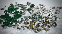 Colossal Skies - 2k x 2k Multibiome Custom Floating Islands Terrain - 360 Panorama - WorldPainter Script Minecraft