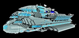 Massive luxury spaceship  - The United Citadel Minecraft
