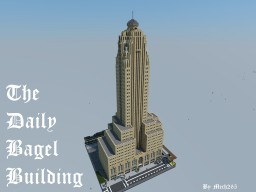 """The Daily Bagel"" - A Fictional 1920's Art Deco Building Minecraft Map & Project"