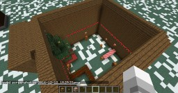 Burning Gingerbread House Minecraft Map & Project