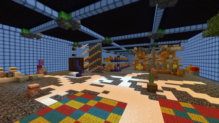 Cakes Redstone room.  With the workings for the engines, elevators, food hoists, and teleport system in place.