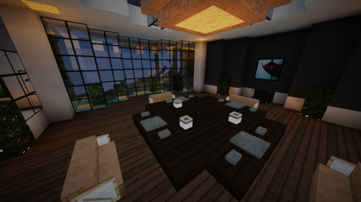 Modern mansion wip minecraft project for Dining room minecraft