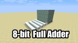 1 Tick Ripple Carry Adder Minecraft Project
