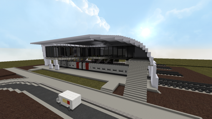 Modern Concept Train Station Minecraft Project