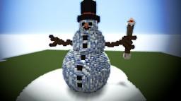 Mega Winter Snowman Build Minecraft Project
