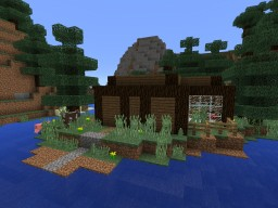 Waterside Spruce Cabin:BassCrafters Classic Solo Edition Project Contest Minecraft Map & Project