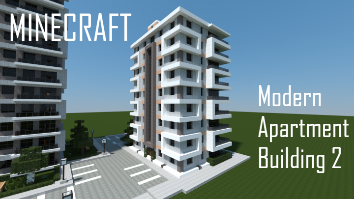 Modern Apartment Building 2 Minecraft Map