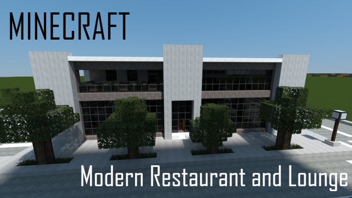 Modern Restaurant and Lounge (full interior) Minecraft Project