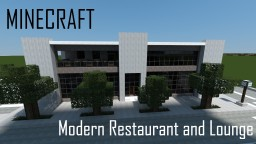 Modern Restaurant and Lounge (full interior) Minecraft Map & Project