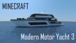 Modern Motor Yacht 3 (full interior) Minecraft Map & Project