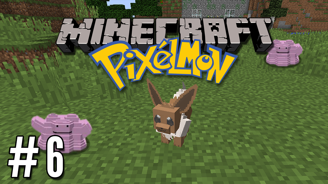Pixelmon E06 Ditto And Eevee Hunt Pokemon In Minecraft Minecraft