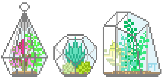 Transparent Pixel Plants Tumblr