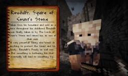 Roudulfr,  Squire of Count's Stone - Medieval Ghent Adventure Map - Character Sheets. Minecraft Blog