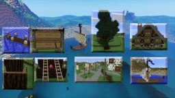Wooden house + fishing Minecraft Map & Project