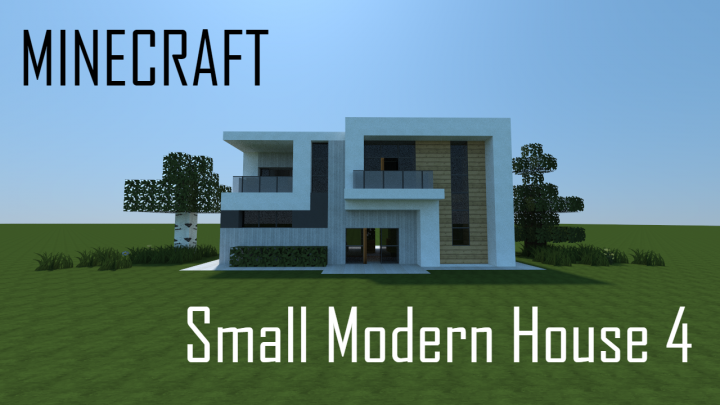 Small Modern House 4 Full Interior Minecraft Project
