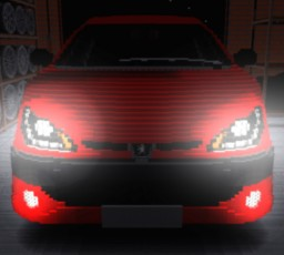 Tuning Headlights Peugeot 206 DR-LINE Minecraft