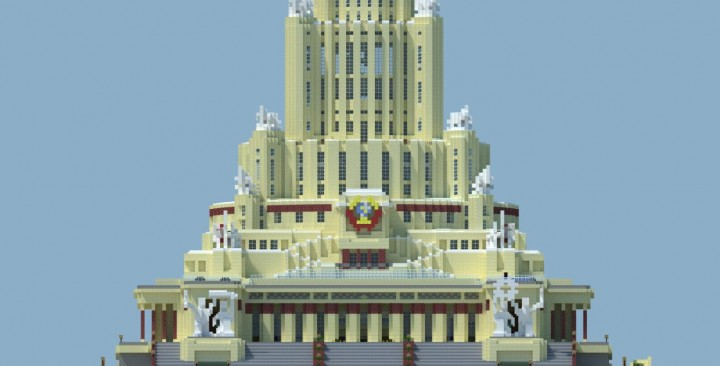 Palace of soviets minecraft project for Architecture urss