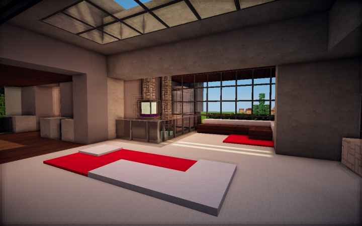 Modern House Interior 1 Minecraft Project