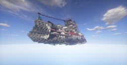 The Valentine // Steampunk Flying Battleship Minecraft Map & Project