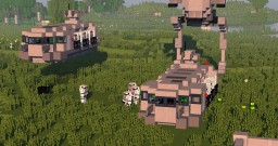 Imperial Troop Transporter STAR WARS Minecraft Map & Project