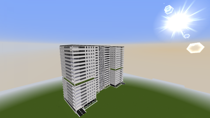 Immeuble moderne 02 minecraft project - Immeuble moderne minecraft ...