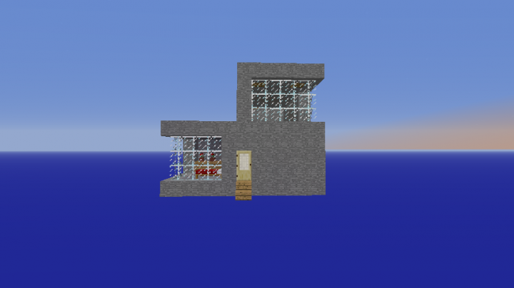 Modern Stone House Minecraft Project
