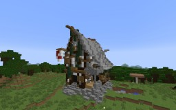 Medium Sized Rustic House Minecraft Project