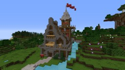 Farm with Watch Tower Minecraft Map & Project