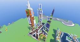 50x50 - futuristic city! - by D-fantome Minecraft Project