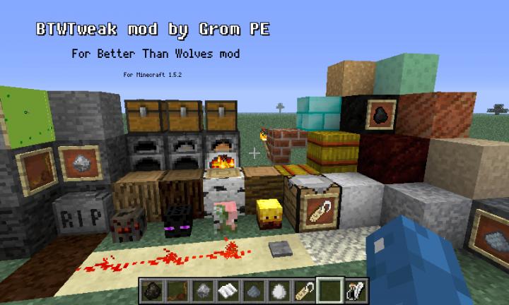 BTWTweak for Better Than Wolves Minecraft Mod
