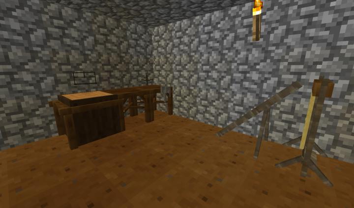Carpenters shop settup