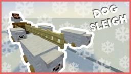 Minecraft - How To Make A Dog Sleigh Minecraft Map & Project