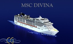 MSC Divina 1:1 Scale Cruise Ship [+Download] Minecraft Map & Project