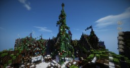 Christmas tree in the snowy Riverton Minecraft Project
