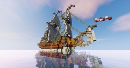 "Galleon ""Golden hind"" of sir Francis Drake Minecraft Project"