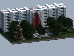 Large Apartment Building Minecraft