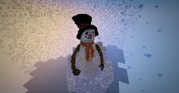 Organic Snowman Minecraft Map & Project