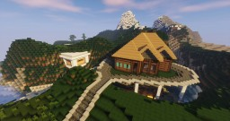 Epic Mountain House (Embedded) | With Pool Minecraft Map & Project