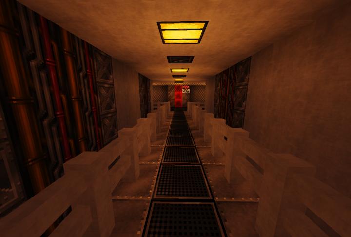 Underground corridor to the power breaker