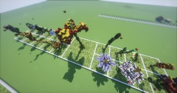 19 organic giant flowerrs Minecraft Project