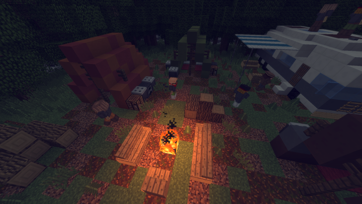 Another survivor encampment
