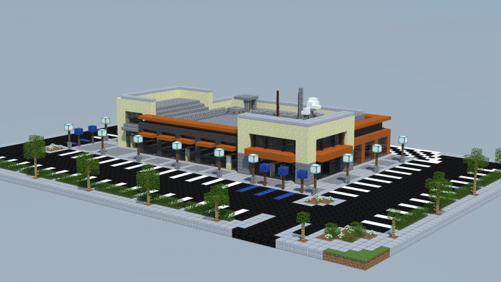 Strip Mall Minecraft Map