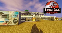 Jurassic Park InGen Com Center Minecraft Map & Project