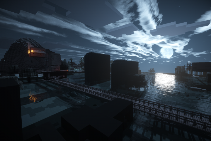 Nighttime with a SEUS shaders at 3K