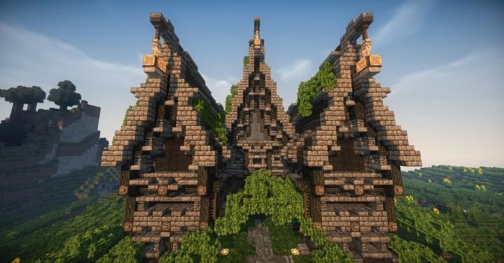 minecraft town hall schematic